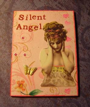 Silent Angel ACEO by acatnamedfrank