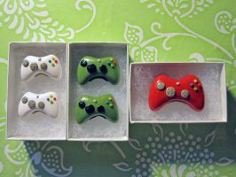 Xbox Controllers Commission by egyptianruin