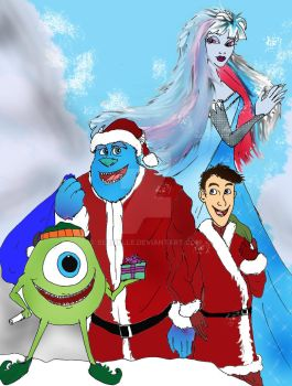 A Frozen Monsters Xmas poster by Selinelle