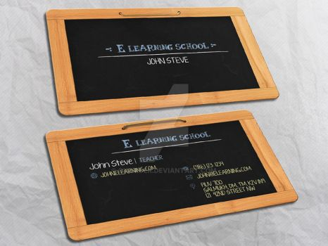 E Learning Business Card by Oksrider