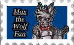 Stamp: Max the wolf fan by JuliArt15