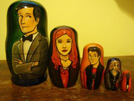 Eleventh Doctor Nesting Dolls by bachel60