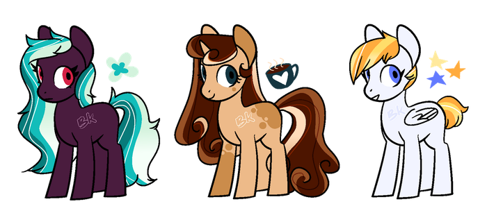 MLP ADOPTABLES - GRADIENT MANES by beachyk