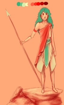 woman with spear by M03PS
