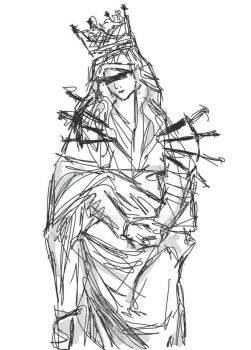 Our Lady of Sorrows doodle by Kaethze
