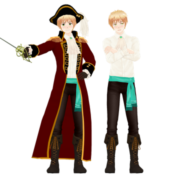 MMD - Pirate!England (Full Reference) by Dark-Dragon-Spirit