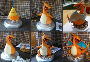 Charizard Stages by ginas-cakes