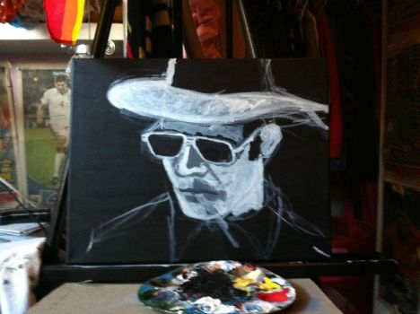 Hunter S Thompson WIP by K-Milton
