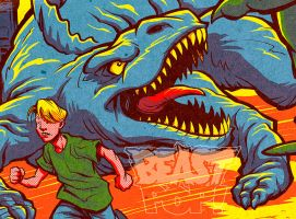 DINOSAURS ATTACK detail crop2 by pop-monkey