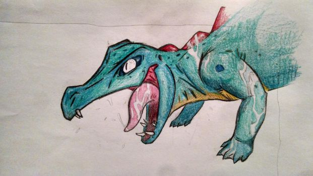 Totodile drawing. by abemroprod