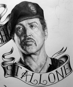 Sylvester Stallone Expendables poster by Damyanov