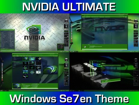 Nvidia Ultimate Desktop Theme for Windows 7 by ionstorm01