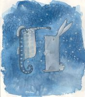Seahorse and Rabbit by maorinette