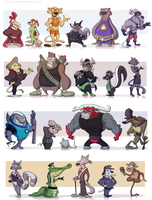 Hero and Villain Concepts - Compiled by AlexanderHenderson