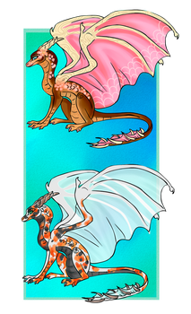 .Oriental Theme Dragon Adoptables [CLOSED] . by Gii-Adoptables