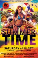 Summer Time Flyer Template by koza30