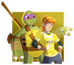 Donnie  and  April by chicajamonXD