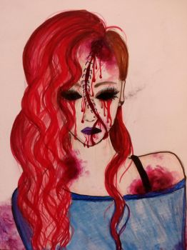 Girl with the red hair by StrangePainter
