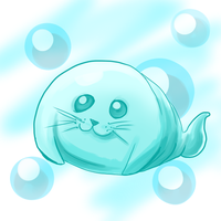 obese baby seal by youfuckingl0ser
