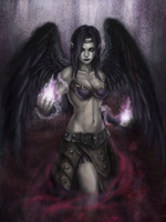 Morgana, the Fallen Angel by Penator
