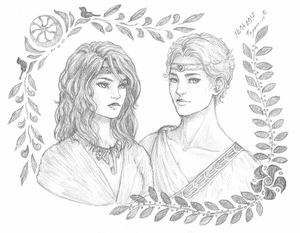 Commission - Artemis and Apollo for CTenaid by Fayen-ri