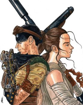 Furiosa and Rey by GabrielJardim