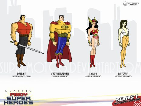 Classic Pinoy Superheroes I by antworksdigital