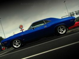 blue metallic challenger by AmericanMuscle