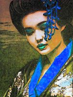 1geisha In Blue by YOKOKY