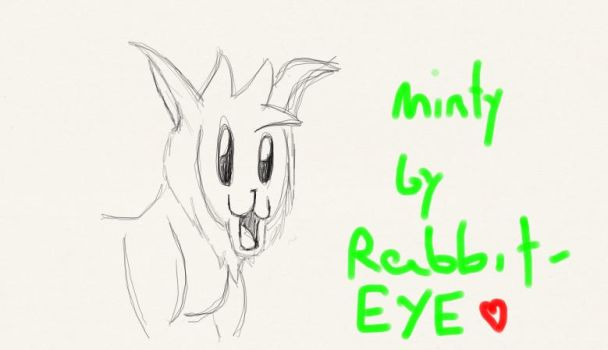 Minty the Eevee by Rabbit-EYE