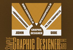 Simple Graphic Designer BusinessCard by GraphicCo