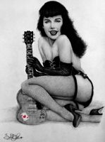 Bettie Page Pin-Up Commission by dwightyoakamfan