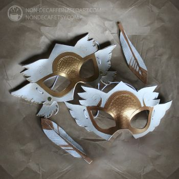 valkyrie angel Masks by nondecaf