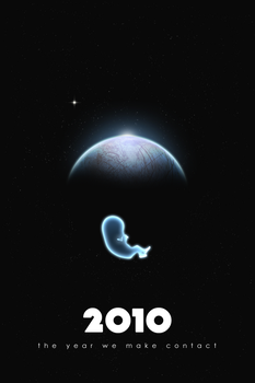 2010: The Year We Make Contact Minimal Poster by ashhishnocturne
