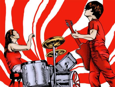 White Stripes cartoon finished by xpiratequeenx