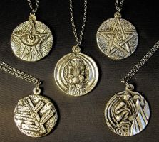 Lovecraft  Tokens in Pewter by zombiequadrille