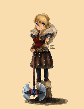 How To Train Your Dragon 2- Astrid by BlackCrow06