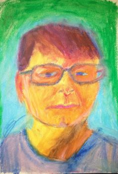 Myself - Oil Pastels by neveza