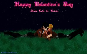 Happy Valentine's Day from Levi and Erwin by Levi-Ackerman-Heicho