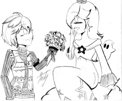-Request- Shulk and Rosalina by ChibiAndyChan