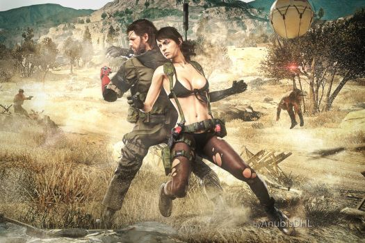 MGSV: Snake and Quiet by AnubisDHL