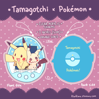 POINTS ACCEPTED Tamagotchi x Pokemon AcrylicCharms by ToasterKiwi