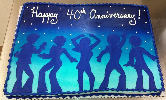 Disco Anniversary Cake by ayarel