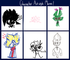 Character Artstyle Meme by donut-toast