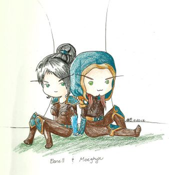 Elen and Moe by the-scowling-cat