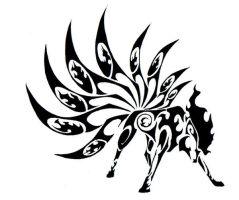 Ninetales Tribal Tattoo