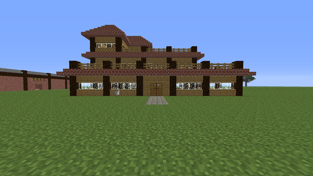 Minecraft Homestead (Frontal View) by PokemonSoldier