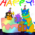Larry Wishes Birthday Happiness To You by RoomsInTheWalls