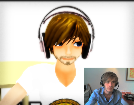 Comparison MMD VS Reality : PewdiePie by Pianodream