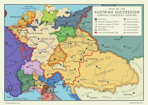 War of the Austrian Succession by Enmergal